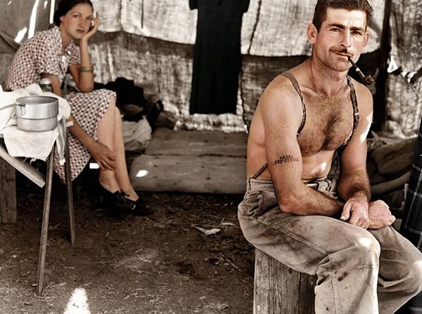 Nezaměstnaný dělník v roce 1939