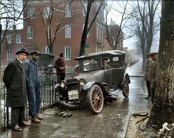 Auto nehoda ve Washingtonu v roce 1921